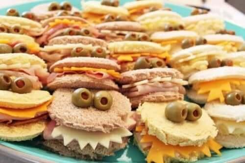 Sjove sandwich