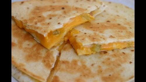 Quesadillas med ost