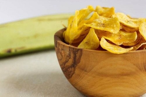 Grøntsagschips er på listen over sunde snacks