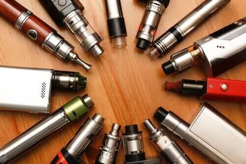 Forskellige typer elektroniske cigaretter
