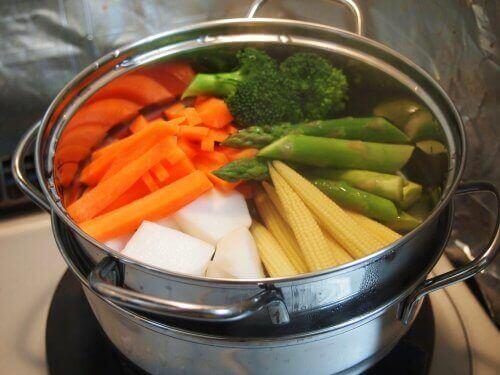 Grøntsager i gryde