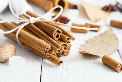Takket være sin karakteristiske aroma er kanel godt til at fjerne lugt og afværge insekter