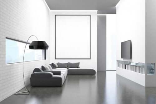 Stue viser minimalisme i hjemmet
