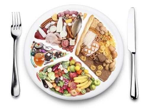 Godt fordelte næringsstoffer er et komplet måltid. Hver vigtig gruppe skal være repræsenteret i hvert måltid, du spiser