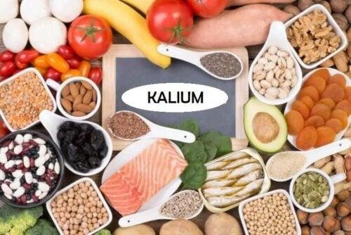 Fødevarer med meget kalium