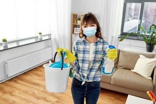 Tips til at rengøre hjemmet under corona-krisen