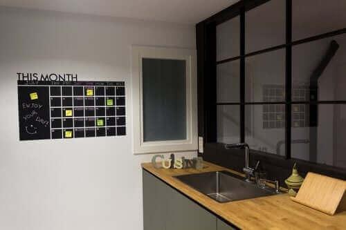 Et eksempel på en organiseringstavle til køkkenet