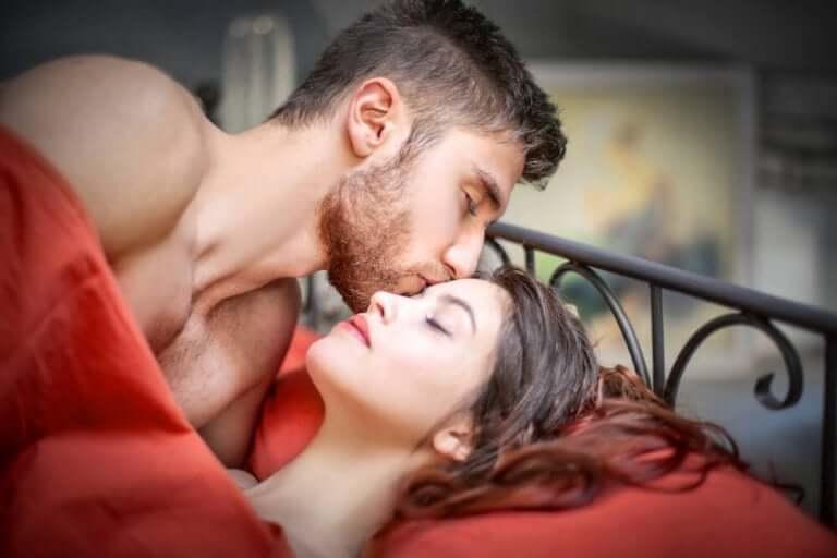 Par har sex med orgasme