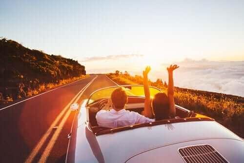 Man kan gøre sig tanker om lykke i bilen