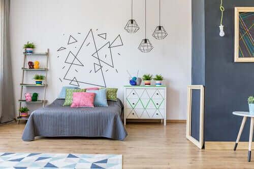 Vægmaleri på barns værelse