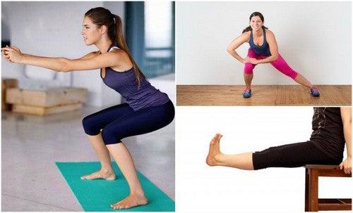 Det er vigtigt at holde gang i blodomløbet i benene, for eksempel med disse øvelser