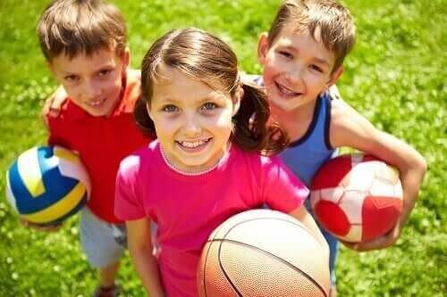Børn er klar til samarbejdslege