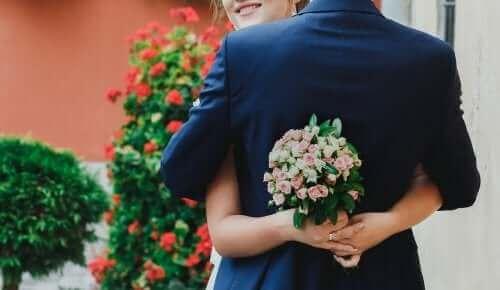 Kram med brudebuket