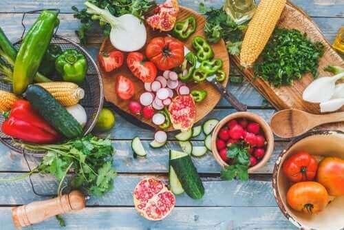 Eksempel på fødevarer til en sund kost