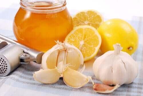 Citron, honning og hvidløg til at bekæmpe forkølelse