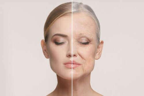 Kvinde viser aldring