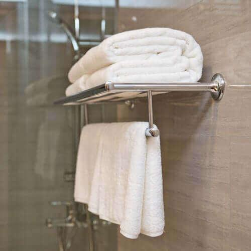 Rene, hvide håndklæder