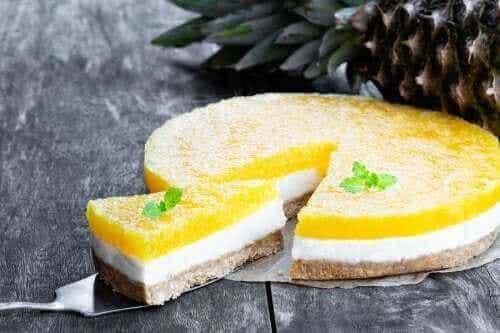Piña colada cheesecake uden ovn