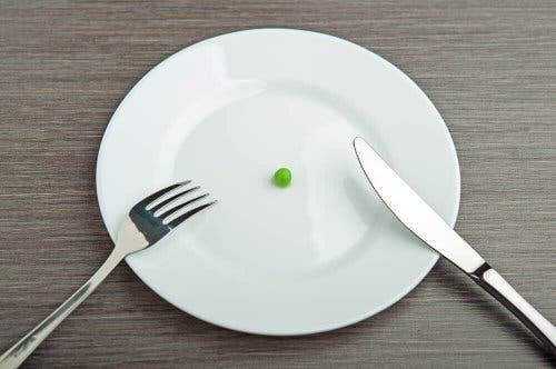 En ært på tallerken viser en kost, der kan føre til avitaminose