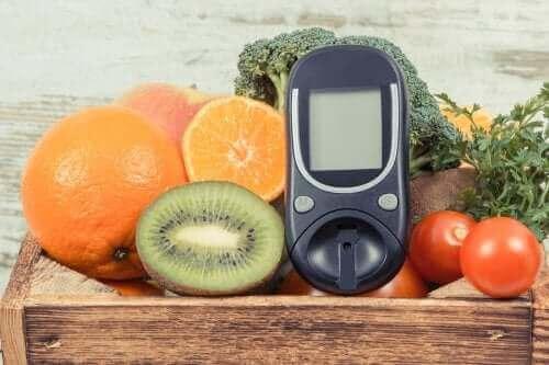 Glukosemåler og frugter