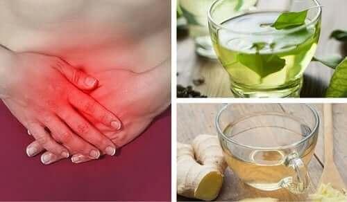 Forskellige typer te til at behandle aerofagi