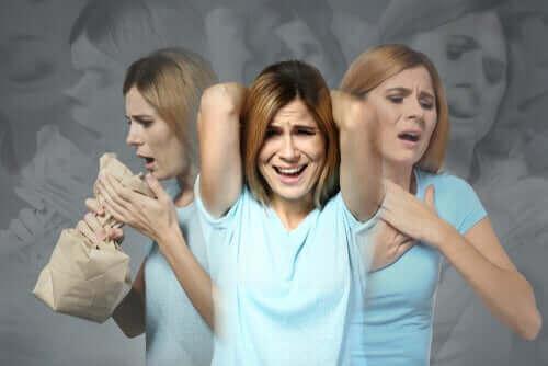 Kvinde oplever angst