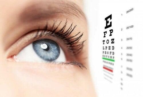 Test af øje med keratoconus