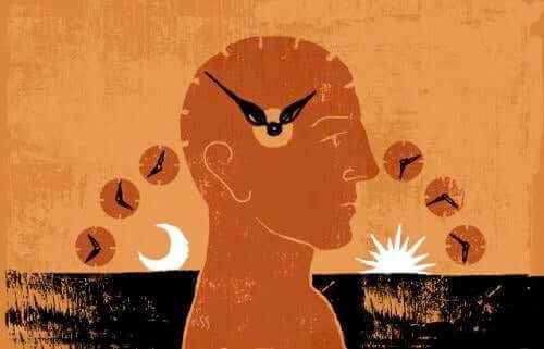 Ur i hjerne symboliserer, hvordan sommertid kan påvirke kroppen