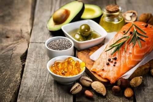 Forskellige kilder til omega-3