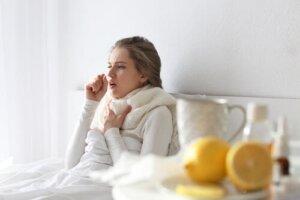 Hoste forbundet med forkølelse
