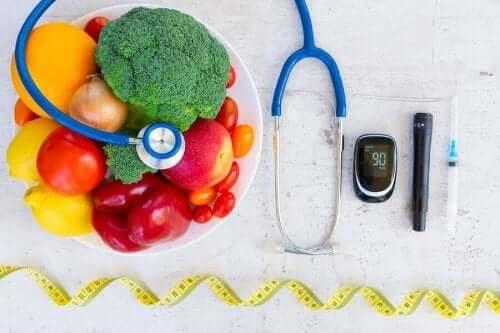 Fødevarer og udstyr til at måle blodsukkerniveau