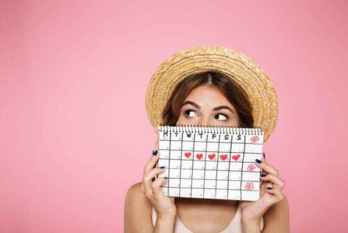 Kvinde med kalender