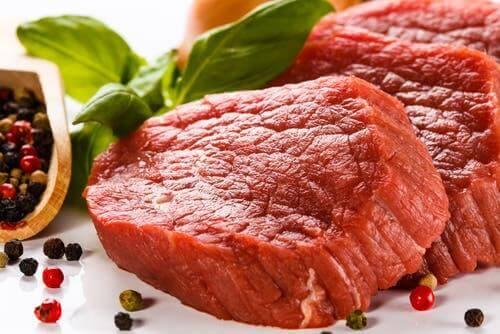 Rødt kød indeholder mange puriner