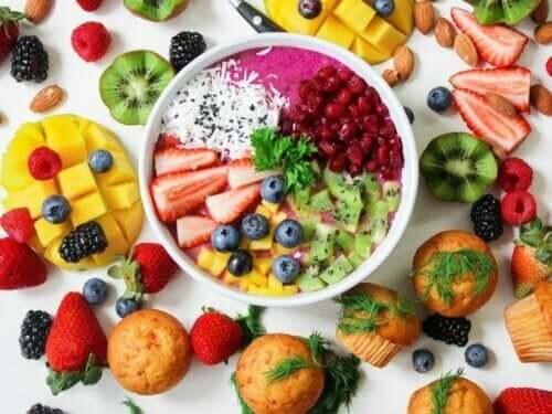 Frugter og smoothie