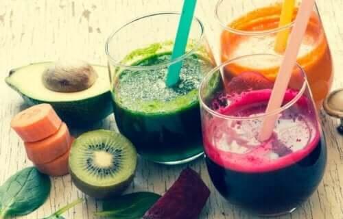 Fra frugtjuice kan kroppen omdanne glukose