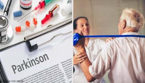 Genoptræning af patient med Parkinsons