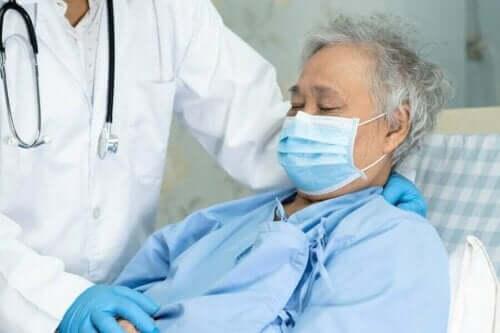 Patient på sygehus