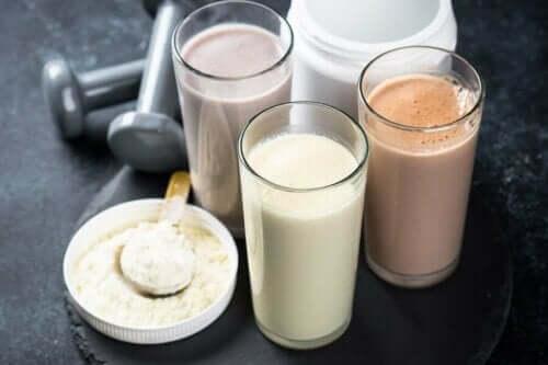Drikke med proteinpulver