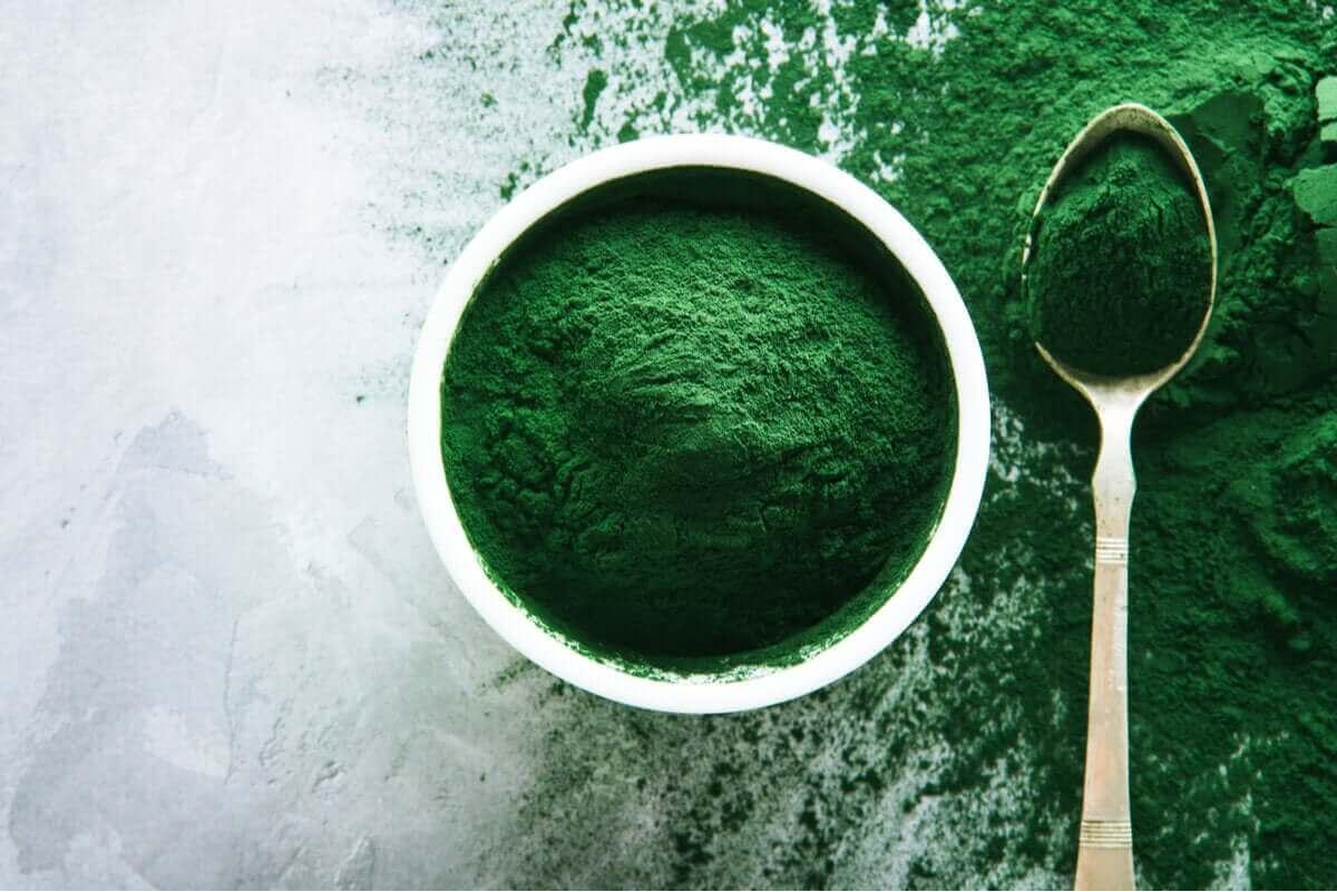 Spirulina i pulverform