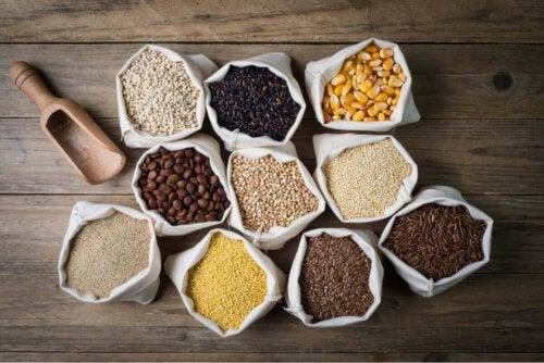 Kornsorter uden gluten til personer, der lider af forskellige typer af cøliaki