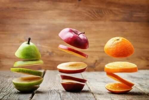 Frugt skåret i skiver