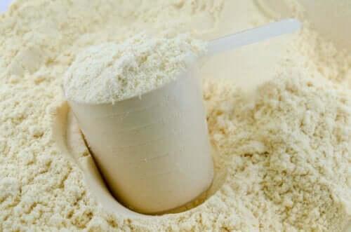 Calciumkasein i form af pulver