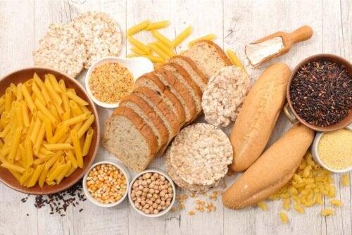 Fødevarer rige på kulhydrater