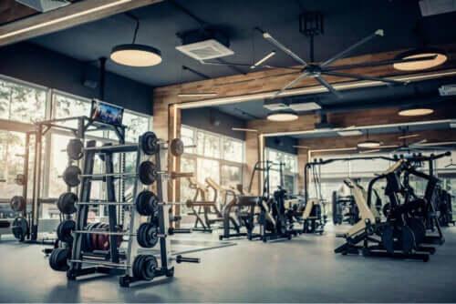 En tomt motionscenter