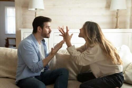 Par skændes, fordi partner er verbalt voldelig