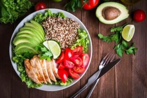 Eksempel på et sundt måltid