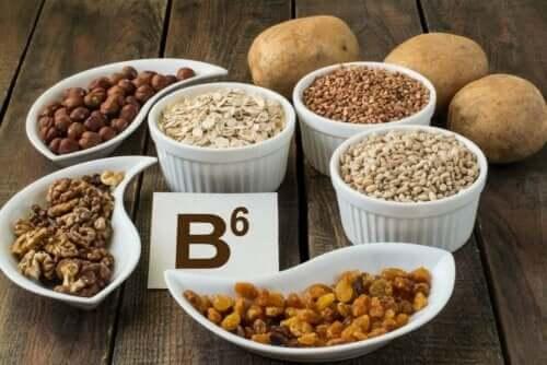 Fødevarer med B6, som er en del af B-vitamin kompleks