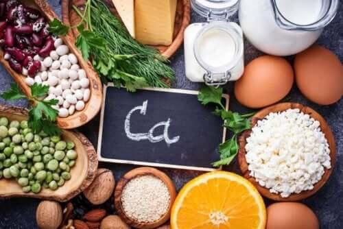 Fødevarer rige på calcium
