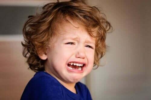 Grædende dreng er eksempel på raserianfald hos børn