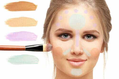 Formålet med farvekorrigerende makeup, og hvordan man bruger det